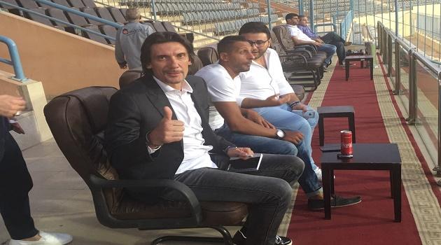 نيبوشا في ملعب بتروسبورت لمتابعة ودية الزمالك مع السالمية الكويتي