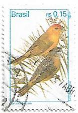 Selo Casal de canário-da-Terra