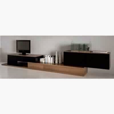 meuble tv noir bois meuble tv. Black Bedroom Furniture Sets. Home Design Ideas