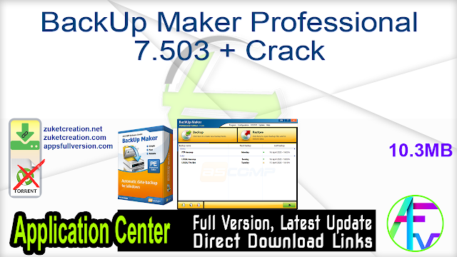 BackUp Maker Professional 7.503 + Crack