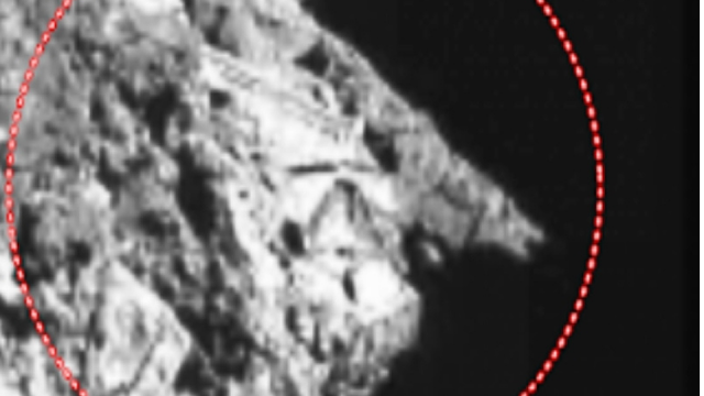 Artificial structure on a comet visited by NASA.