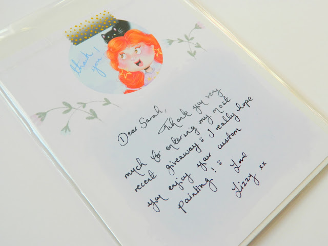 a photo showing a note from an etsy store owner, saying thankyou