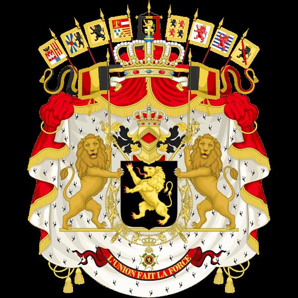 Logo Gambar Lambang Simbol Negara Belgia PNG JPG ukuran 600 px