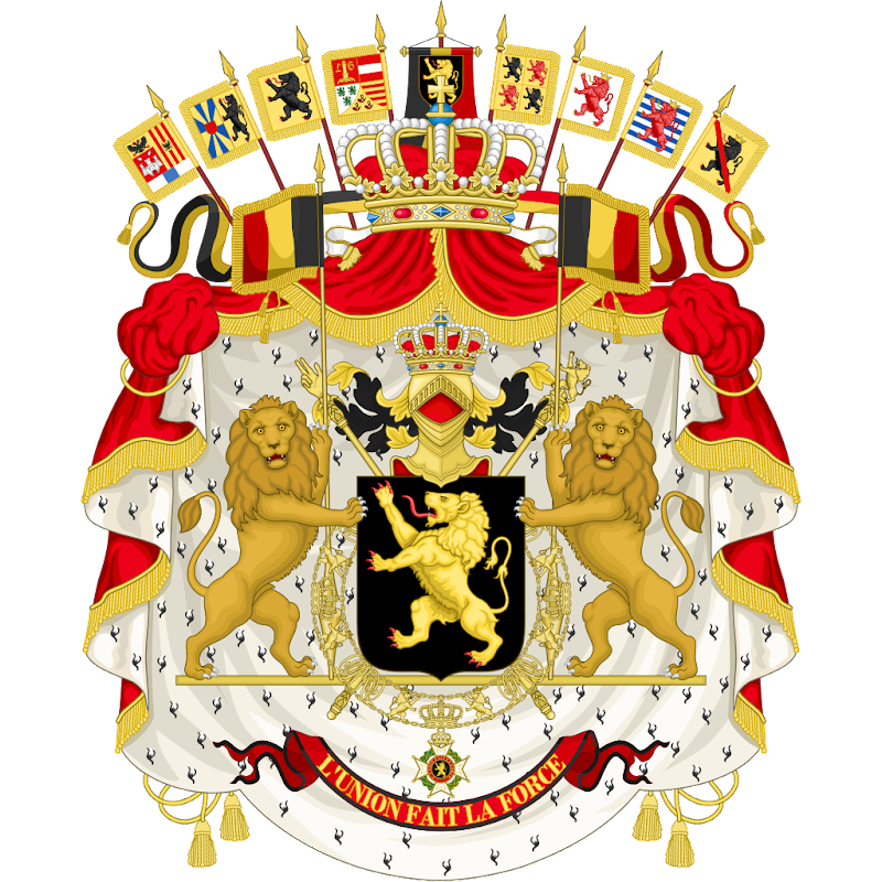 Logo Gambar Lambang Simbol Negara Belgia PNG JPG ukuran 800 px