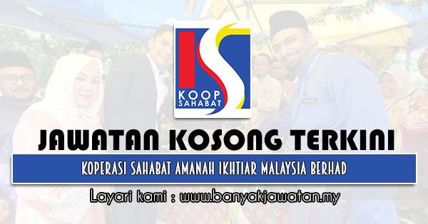 Jawatan Kosong 2021 di Koperasi Sahabat Amanah Ikhtiar Malaysia Berhad