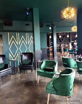 Velouria interior green velvet chairs