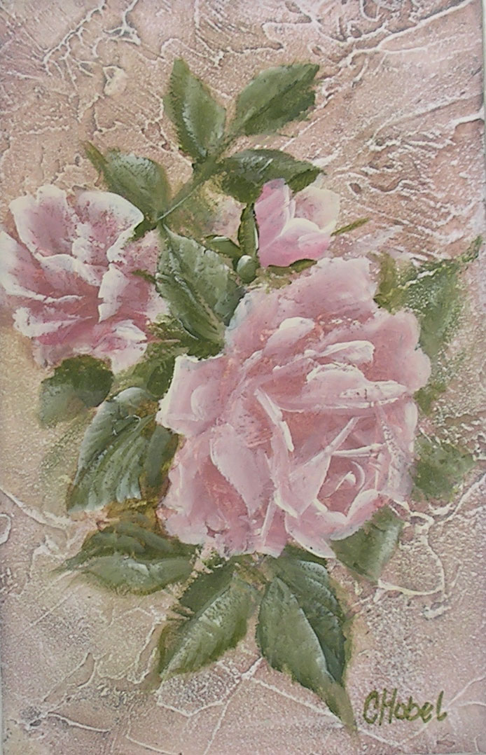 romantic country and rose paintings just roses shabby chic print by chris hobel. Black Bedroom Furniture Sets. Home Design Ideas