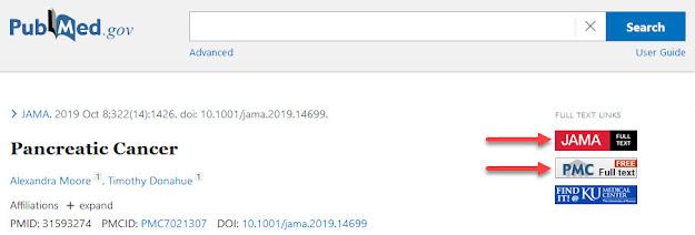 Full Text Links in PubMed