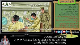 صورة كفاح شعب مصر - 12 - العدوان والصمود - الفصل الدراسي الثاني