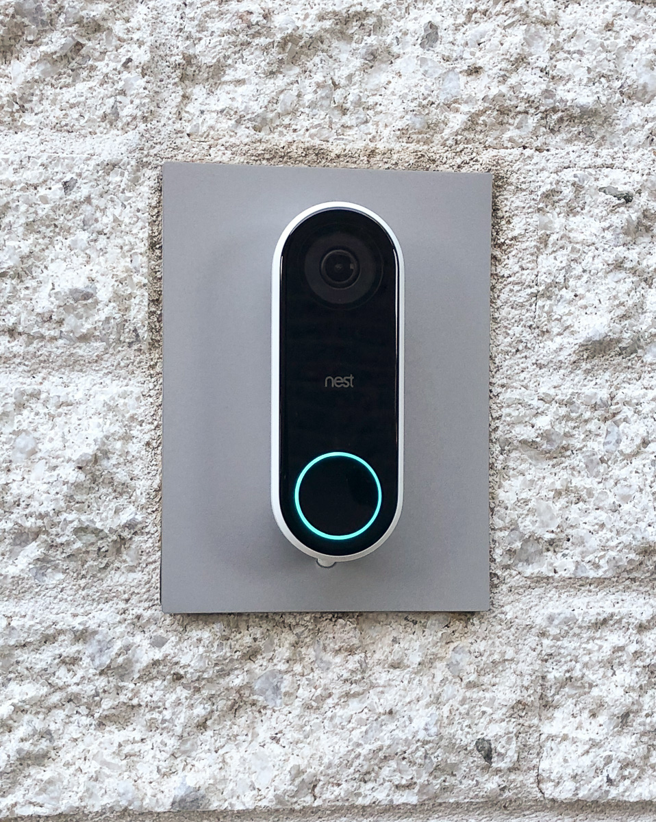 Glens Home Automation The Nest Hello Video Doorbell Upgrading Volume Control Wiring Diagram For Nutone Wall Completed Installation Of Using Aluminum Adapter Plate Over Old Door Speaker