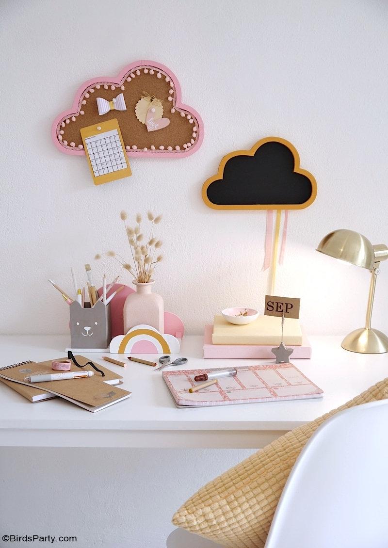 DIY Décorations Bureau d'Enfant - idées créatives faciles pour décorer l'espace de travail ou bureau de votre enfant prêt pour la rentrée!