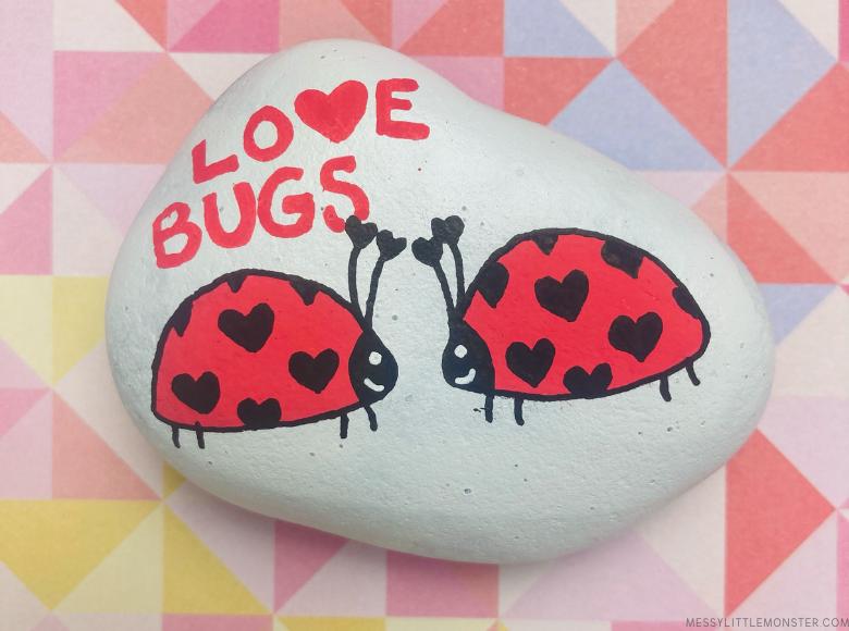painted rocks ladybugs