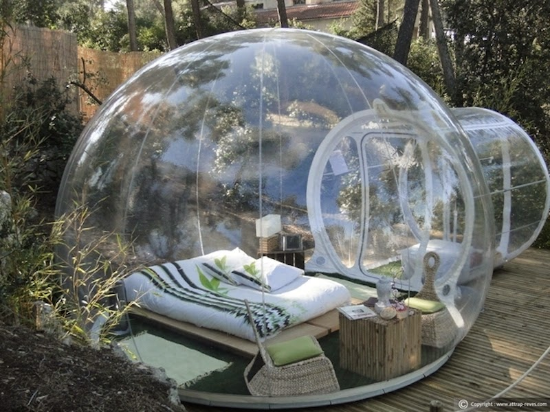 20. These garden beds bring a whole new meaning to 'Bubble Boy.' - 21 Places to Take a Nap Straight Out Of Your Fantasies