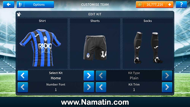 Download Kit Dream League Soccer Atalanta 2021