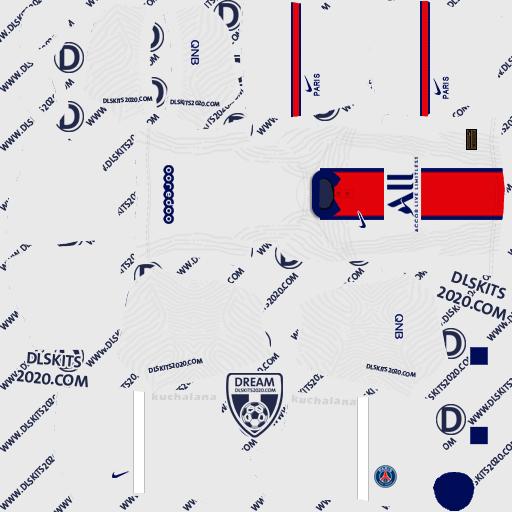 Paris Saint-Germain kits 2020-2021 Nike - Kits Dream League Soccer 2020 (Away)