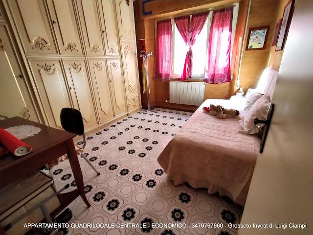 Immagine camera doppia di appartamento su  Ximenes, Centro, Grosseto, Agenzia Immobiliare Grosseto Invest