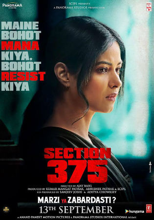 Section 375 (2019) Full Hindi Movie Download 720p