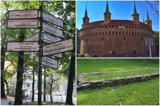 Senales monumentos en Parque Planty – Barbacana – Restos de la muralla defensiva de Cracovia en Parque Planty