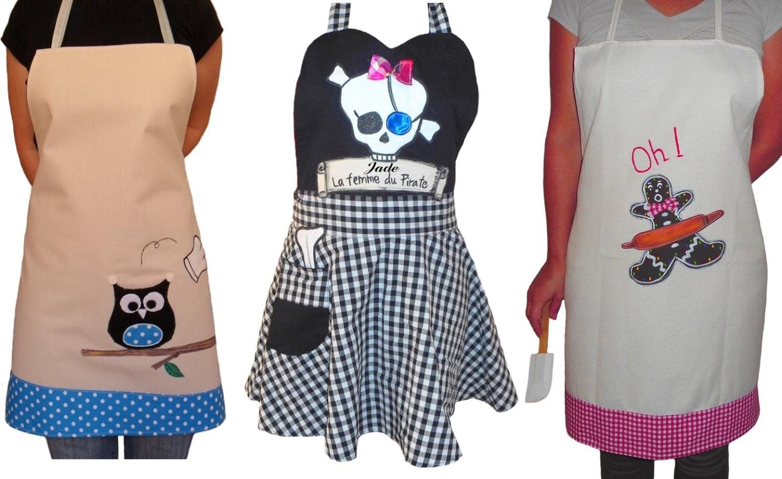 Tablier de cuisine original et design pour femme for Tablier cuisine humoristique