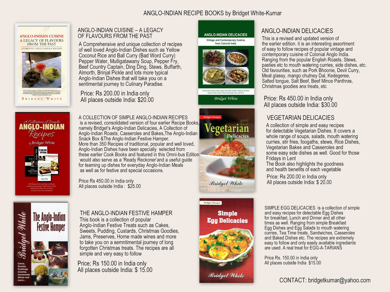 Anglo indian recipes by bridget white bridget white anglo indian cookery books forumfinder Images