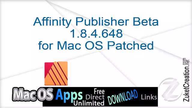 Affinity Publisher Beta 1.8.4.648 for Mac OS Patched