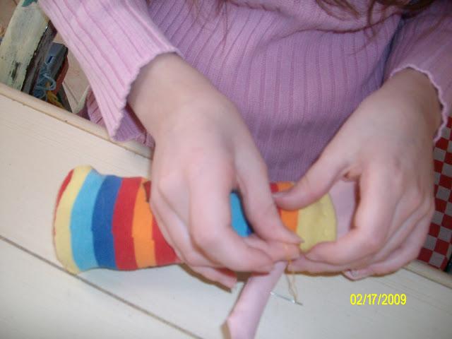 coudre poupée chaussette