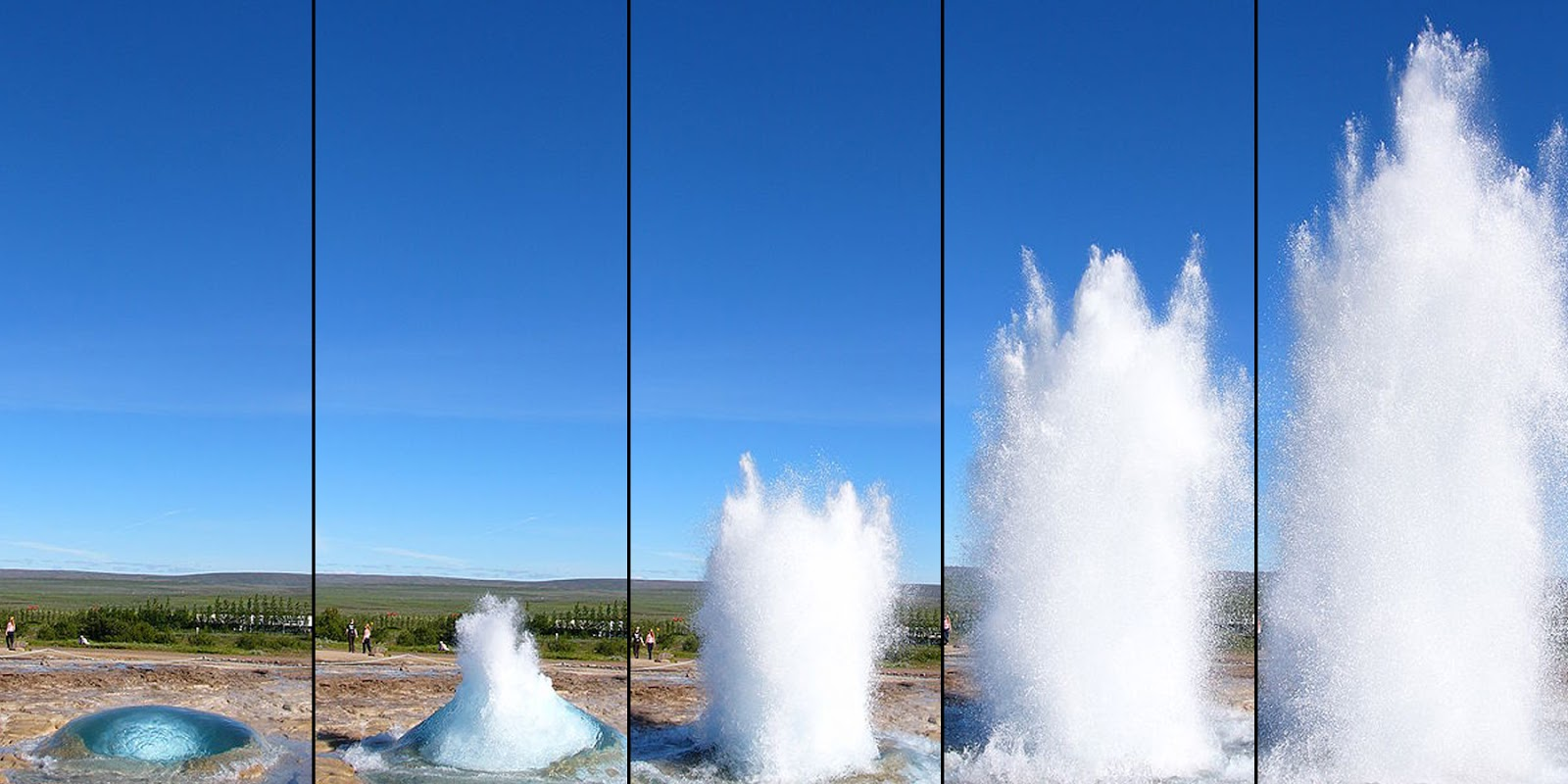 Strokkur Geyser step by step
