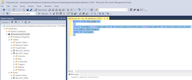 Create View in SQL Server Management