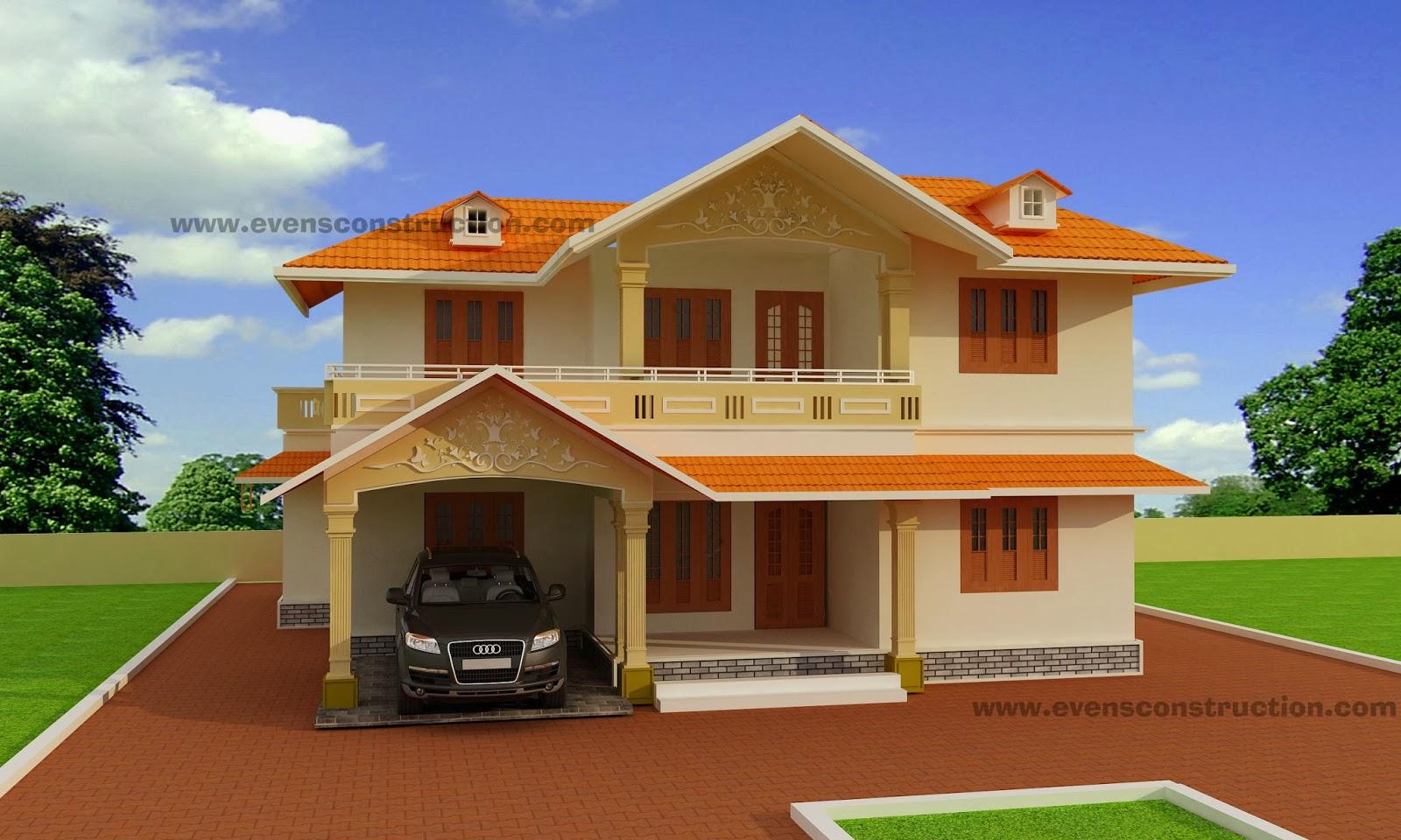 Evens Construction Pvt Ltd 3d Kerala House Designs