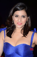 Mannara Chopra in Deep Neck Blue Gown at Zee Telugu Apsara Awards ~  Exclusive 034.jpg