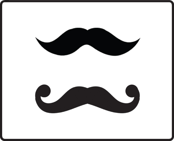 Enthused monkey crafty diy moustache straws for Mustach template