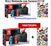 Logo Concorso ''Vinci Nintendo con Danone 2019'': in palio 12 Console + gioco Super Mario Party