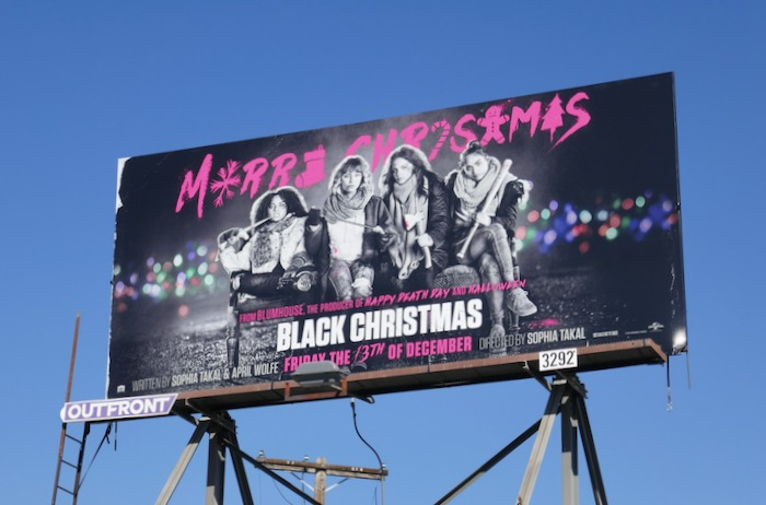 Black Christmas movie billboard