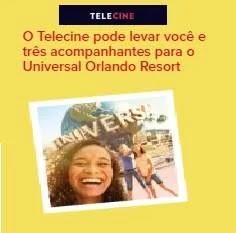 Cadastrar Promoção Telecine Te Leva Universal Orlando Resort Três Acompanhantes