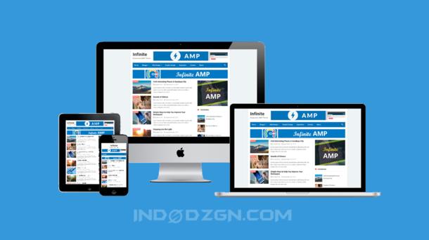 template blogger terbaik, download infinite amp blogger template, kumpulan template blogger fast loading