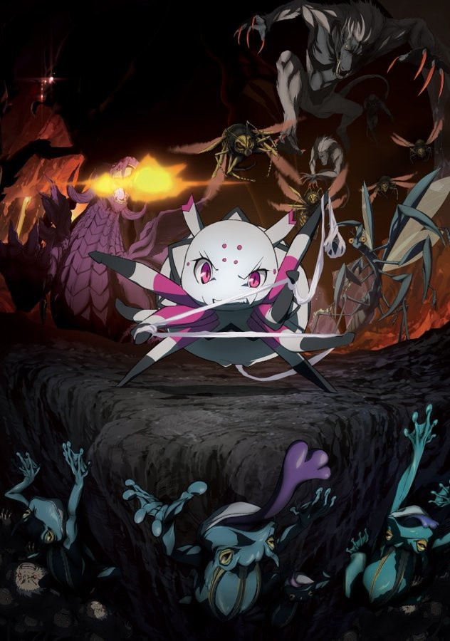 Plakat anime Kumo Desu ga, Nani ka?