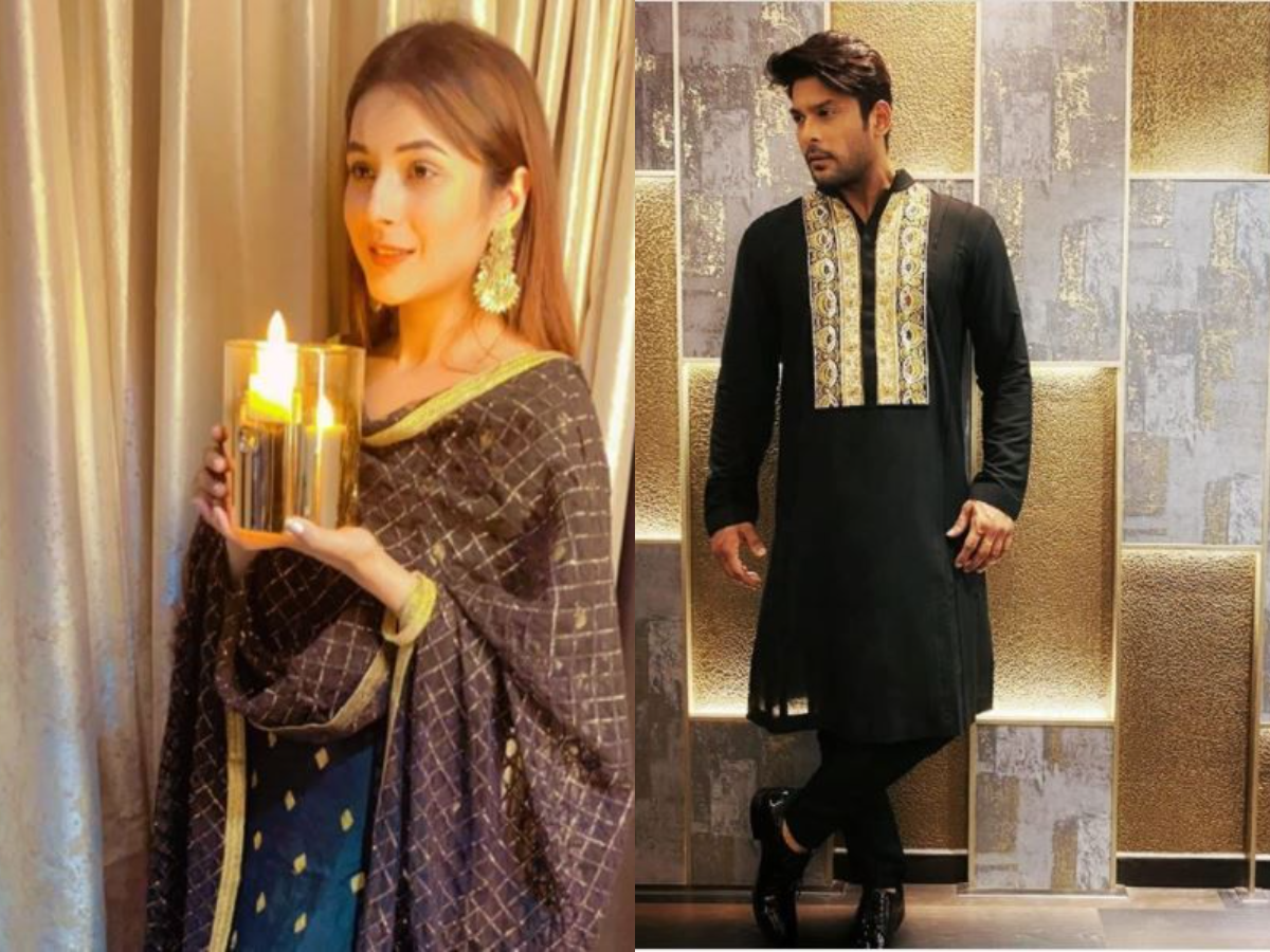 Celeb Diwali: Sidharth Shukla, Shehnaaz Gill celebrate Diwali, share photos wearing black attires