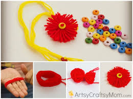 How To Make Homemade Rakhi 2016 For Brother Kids Images Photos Pics wallpapers