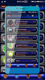 Tema BBM Terbaru : BBM MOD Metalic Angel 2.12.0.11 APK