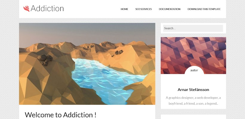 Addiction Free Blogger Template