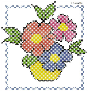 field flowers, floral, cartoon, cross-stitch, back stitch, cross-stitch scheme, free pattern, x-stitch, stitch, free, вышивка крестиком, бесплатная схема, хрестик, punto croce, schemi punto croce gratis, DMC, blocks, symbols