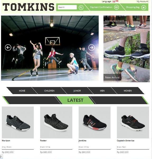 Online Shop Tomkins