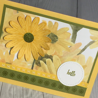 Handmade card using Daisy Punch and Daisy Delight stamp set