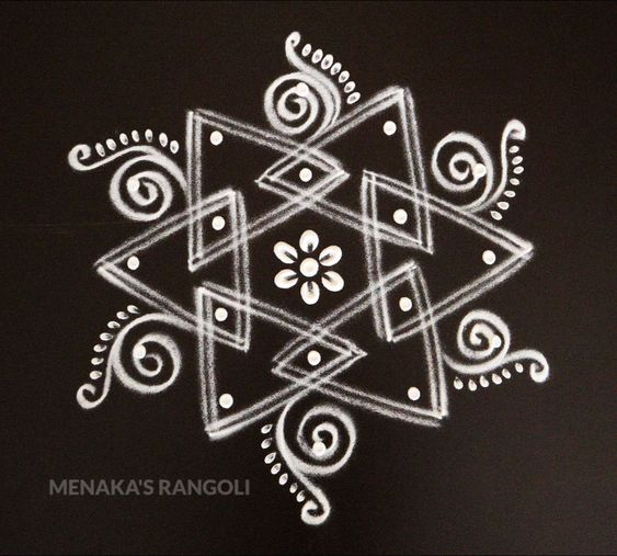 100+ Simple Dotted Rangoli Designs Images 2020
