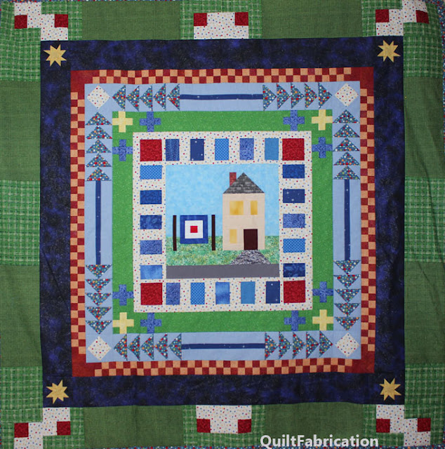 round robin quilt with 6 rounds