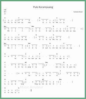 not angka lagu pulo karampuang lagu daerah sulawesi barat
