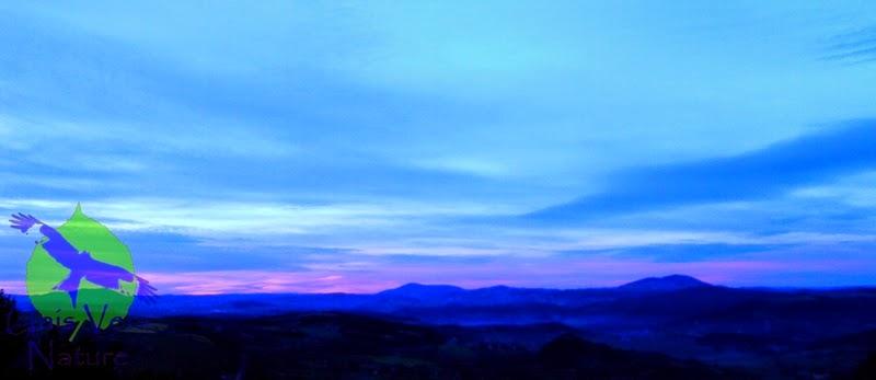 Couché de soleil le Puy en Velais sortie week end Unis Vers Nature