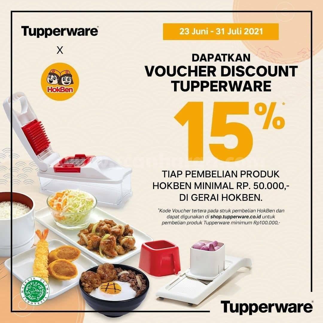 Promo HOKBEN Dapatkan Voucher TUPPERWARE DISKON 15%
