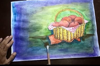MENGGAMBAR BUAH APPEL DALAM KERANJANG MENGGUNAKAN CATAIR [Draw appel in a basket]
