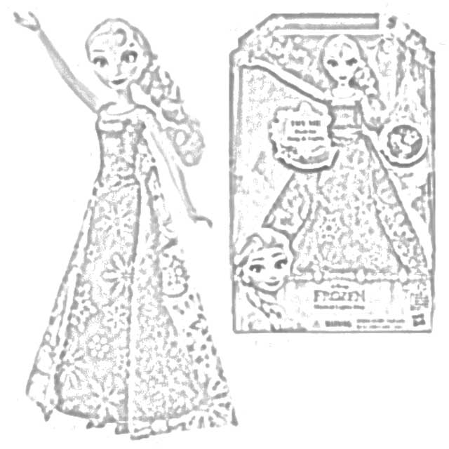 The Holiday Site: Coloring Pages of Anna and Elsa Singing